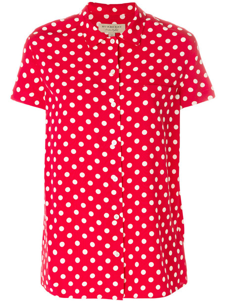 Burberry shirt women silk red top