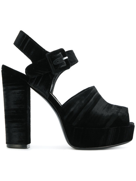 women sandals platform sandals leather black satin shoes