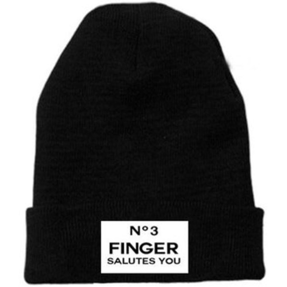hat snapback beanie no3finger black madreglasgow allblack no3fingersalutesyou