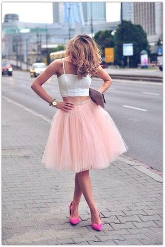 skirt top crop tops pastel  skirt shirt white