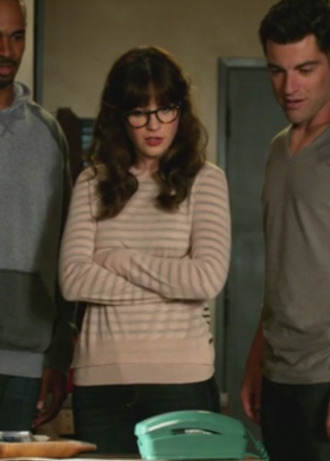 jess new girl zooey deschanel sweater skinny jeans jeans