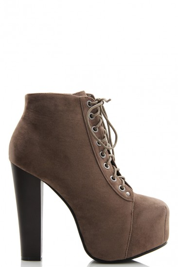 Omg lace up nubuck booties