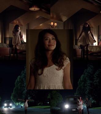 dress white lace lace white lace dress white dress white lace dress the vampire diaries