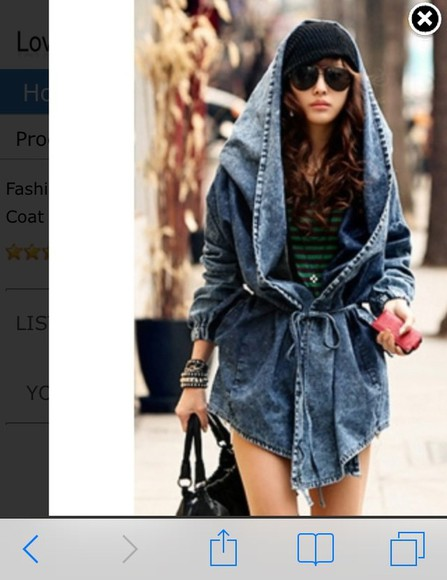acid wash coat denim fall outfits fashion trench coat