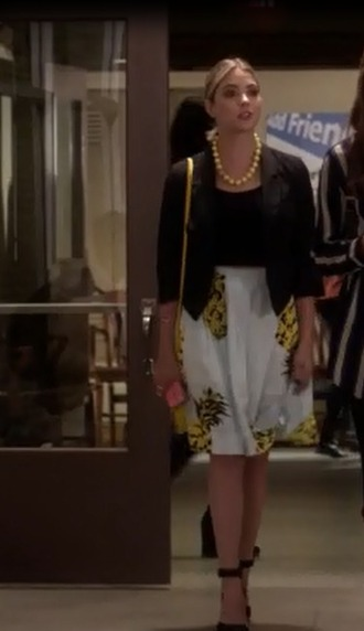 bag hanna marin ashley benson skirt top black blazer jacket tank top