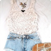 t-shirt,print,shorts,pretty,top,cute,shops,fashion,style,clothes,crop tops,necklace,floral,shirt,lace,summer,white,denim,shoes,skirt,lace shirt,tank top,knitted top,sandals,jewelry,blue,kimchi blue,pants,blouse,pretty lace white top,necklace shorts denim,white lace shirt,cut off shorts,faded blue shorts,blue shorts,jewels,pattern,cute outfits,see through,lace top,jeans,white top,white laced top,cool girl style,lace crop top,white lace tank top,white lace,tshirt.,blueshort