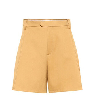 shorts cotton brown