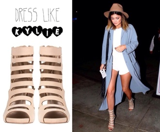 shoes sandals kylie jenner heels cardigan high heels