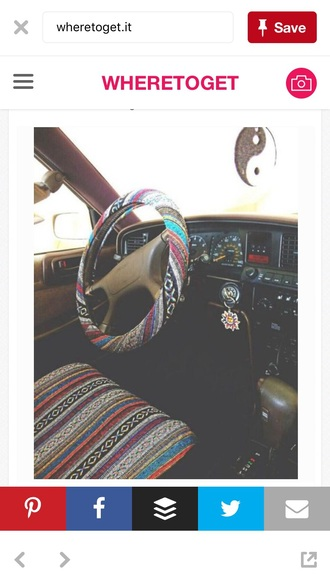 home accessory car wheel cover tribal pattern