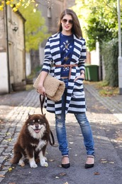 thank fifi,blogger,top,belt,bag,jewels,stripes,ripped jeans,faux fur