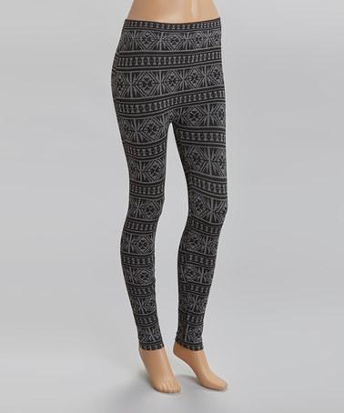 Black & gray tribal leggings $8.99
