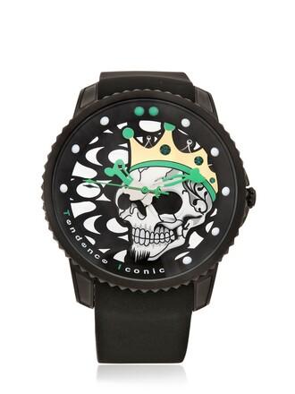 king watch black green jewels