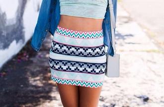 skirt aztec tumblr tumblr girl tumblr clothes vintage relax short girl reggae