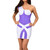 Lilac - One Shoulder Sleeveless Bandage Dress | Emprada