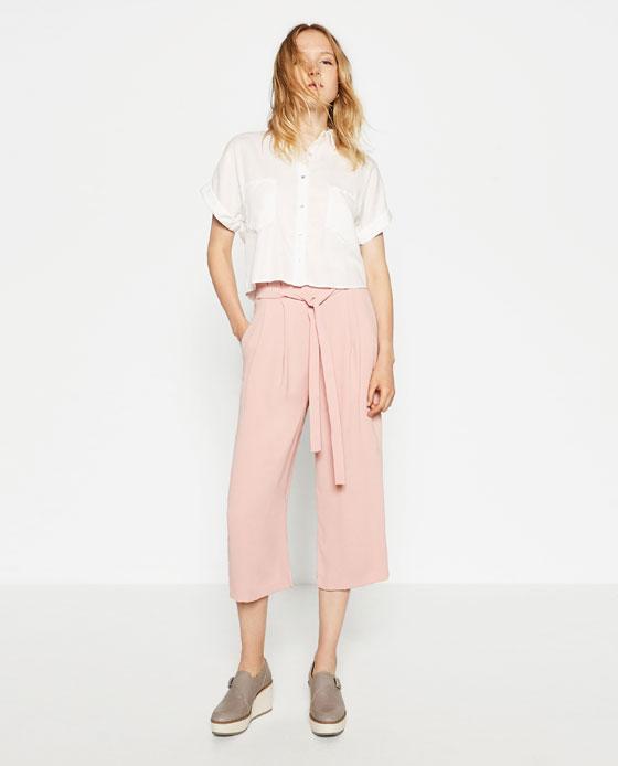 Culottes Culottes Trousers Woman Zara United States