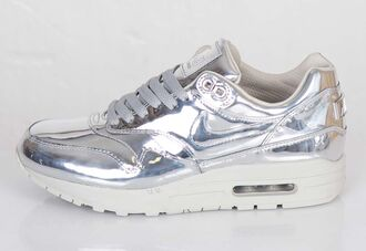 shoes sneakers baskets liquid silver metallic shoes