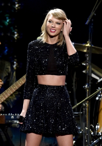 taylor swift two-piece sparkly sequins
