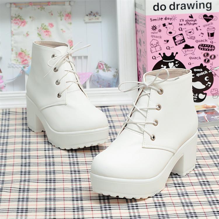 White platform boots · nekori · asia style!