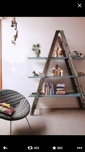 home accessory chair aztec black white shelf chair hipster