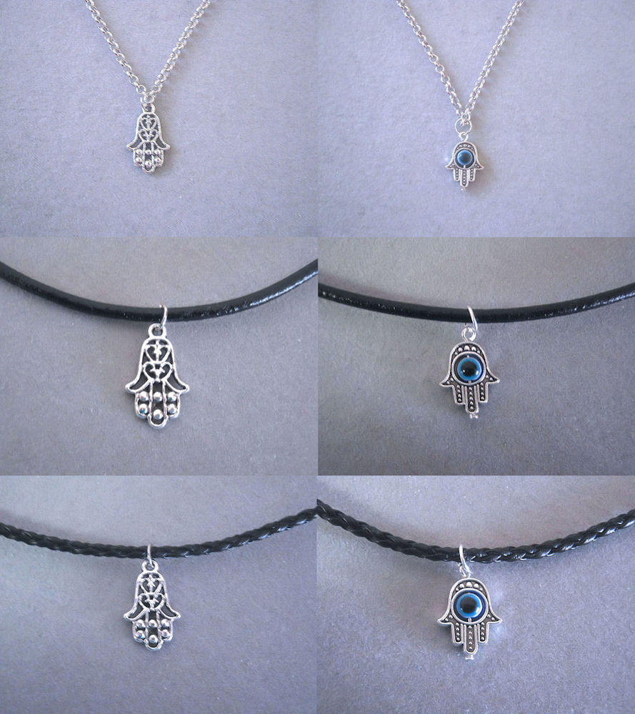 Tibetan Silver Hamsa Hand Evil Eye Protection Necklace | eBay