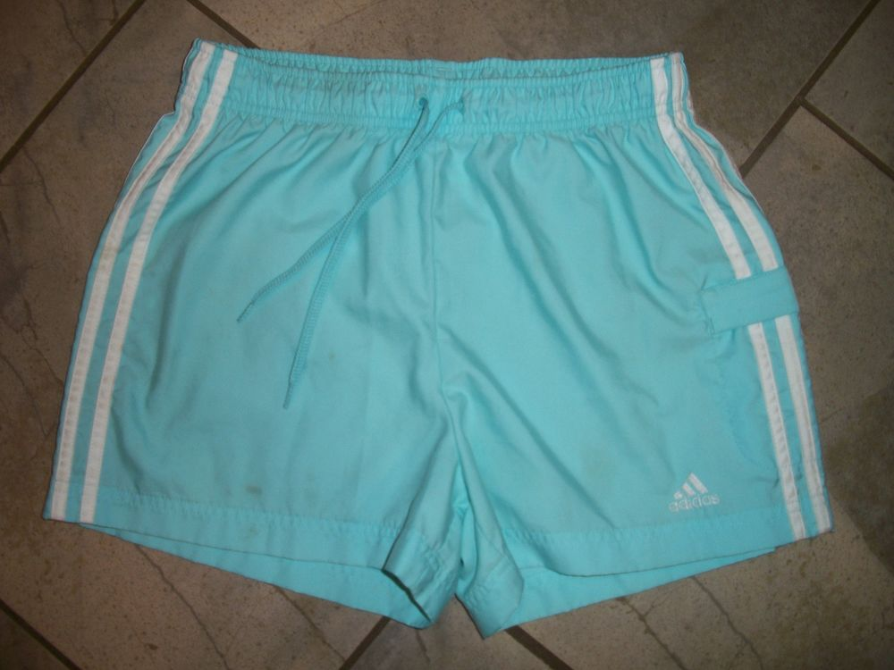 1110 Adidas Light Blue Athletic Sports Training Running Shorts S