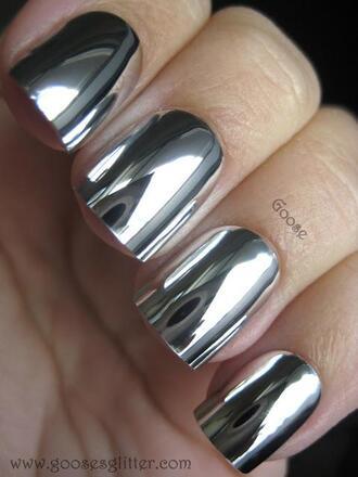 nail polish mirror effect cute