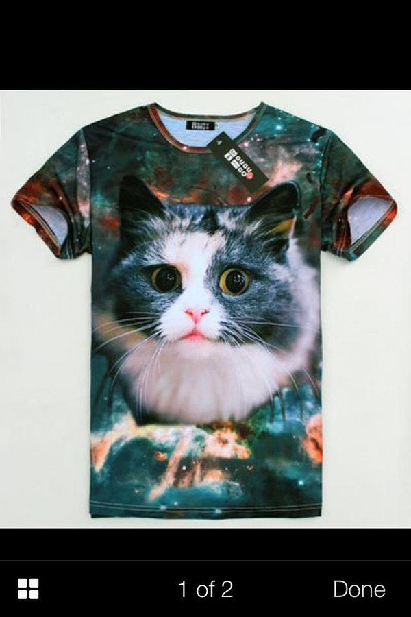 t-shirt cat shirt cats galaxy print