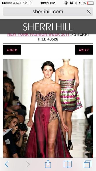 sherri hill prom prom dress jumper couture runway fashion dress bustier dress