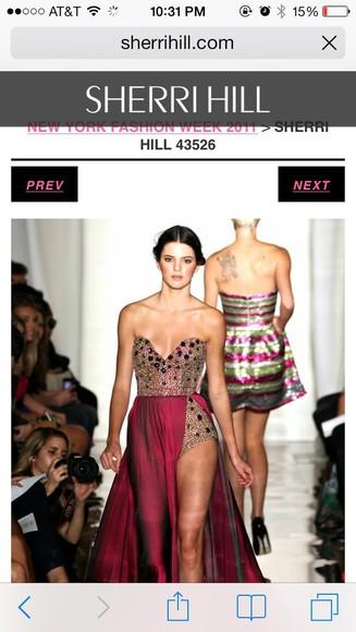 dress prom dress bustier dress couture sherri hill prom jumper runway fashion