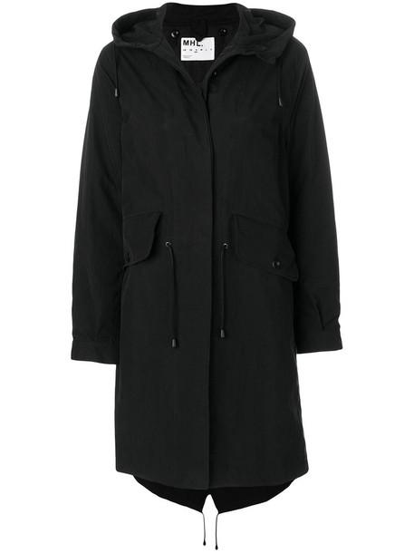 Margaret Howell parka women classic cotton black coat