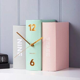 home accessory clock book girly cute