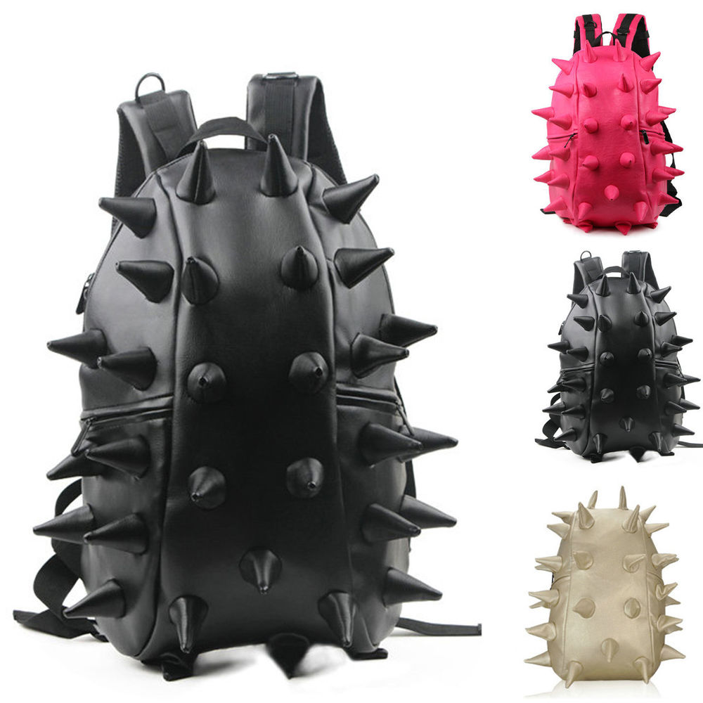 New Unisex Cool Sexy Hedgehog Spike Punk Backpack Kid Spiky Tablet School Bag | eBay