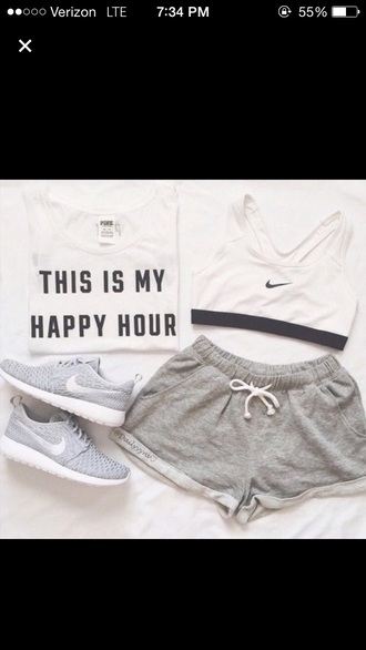 shorts grey grey shorts outfit summer outfits style fashion black and white white
