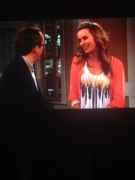 white shirt flow white top feathers ombre flowy good luck charlie bridget mendler disney