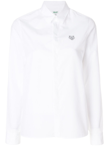 Kenzo shirt tiger shirt mini women tiger white cotton top