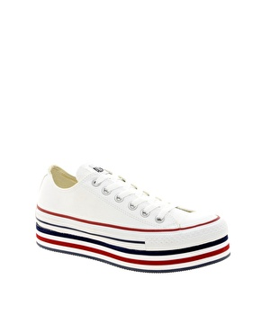 Converse | Converse All Star White Platform Ox Trainers at ASOS
