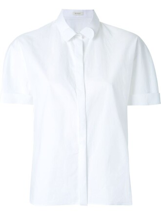 shirt cropped shirt cropped white top