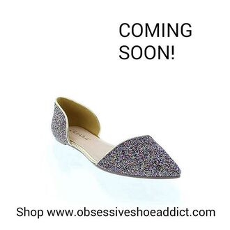 shoes multicolor flats sparkle rainbow