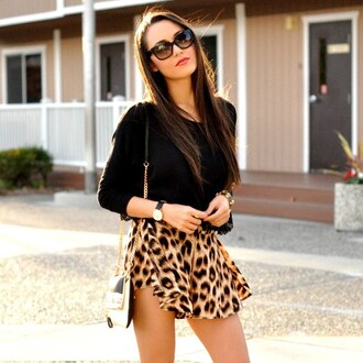 skirt leapard print animal print style spring