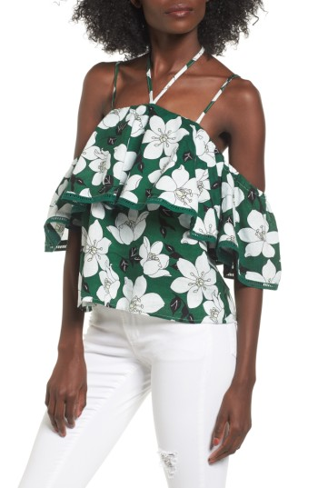 J.O.A. Halter Cold Shoulder Top | Nordstrom