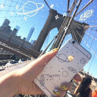 phone cover yeah bunny space stars planets starsmoon moon iphone case iphone cover iphone transparent