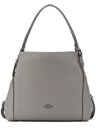 women bag shoulder bag leather grey