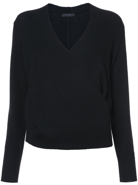The Row jumper women black silk sweater