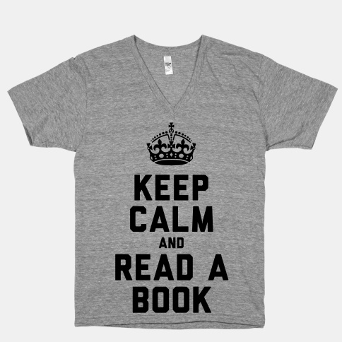 Keep calm and read book