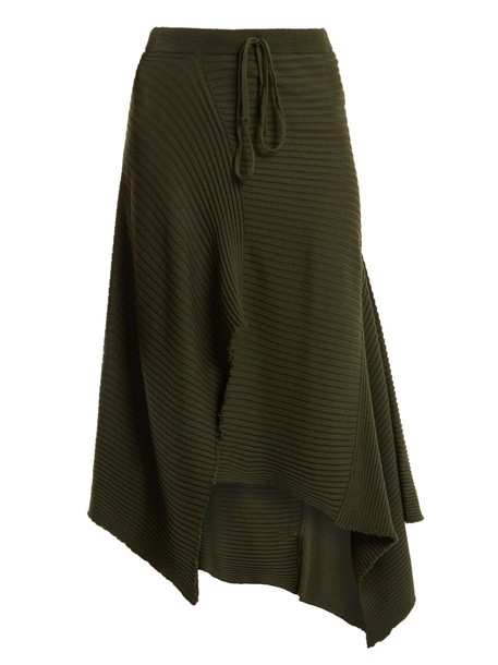 MARQUES'ALMEIDA skirt wool knit khaki