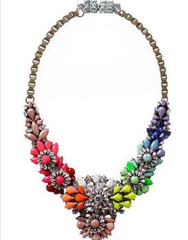 2014 Trendy Necklaces Pendants Link Chain Collar Long Plated