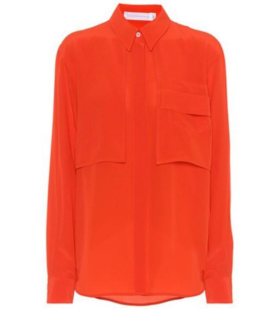Victoria Beckham shirt silk red top