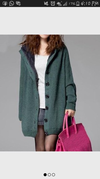 cardigan greensweater