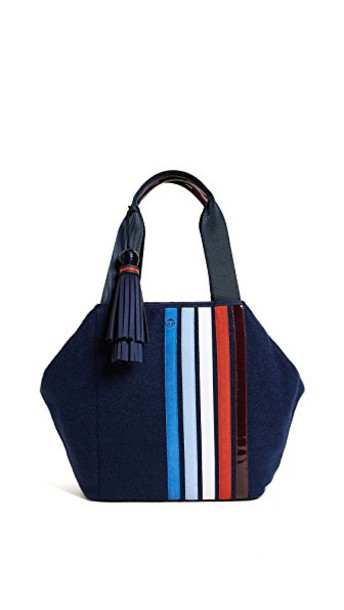 Tory Sport satchel triangle patchwork navy bag