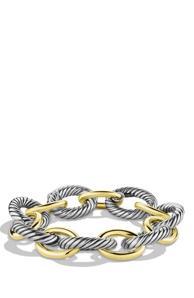 David Yurman 'Oval' Extra-Large Link Bracelet with Gold | Nordstrom